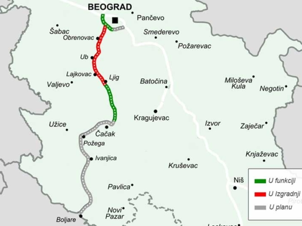 Serbia will continue construction of a road to Montenegro